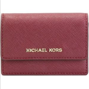 Michael Kors Card Case - Wallets - Red